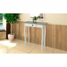 Modern  Wooden White OAK  Console table Dressing Make up Table W/ 1 Drawers