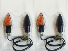 4 FRECCE NERE LAMPADA CORTE OMOLOGATE per HARLEY 883 Soft Tail - 883 Sportster R