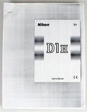 NIKON D1H MANUAL PHOTO COPY