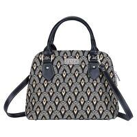 SIGNARE TAPESTRY CANVAS CONVERTIBLE LUXOR ART DECO STYLE TOP HANDLE SHOULDER BAG