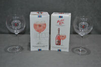 2x Genuine Martini Rose Sparkling Wine Balloon Glasses In Box Cocktail Glass Two