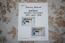 Professional Service Manual on CD for Singer 353 and 354 Sewing Machines.