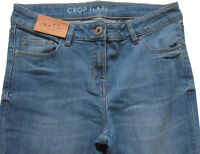 New Womens Blue Crop Flare NEXT Jeans Size 12 Leg 25