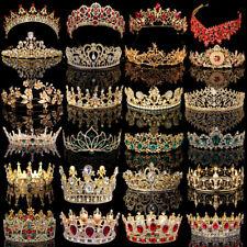 Bridal Gold Crystal Pearl Rhinestone Tiara Crown Wedding Prom Headpiece Headband