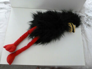 """BLACKBIRD BLACK CROW TALKING HAND GLOVE PUPPET   24"""" long"""