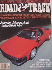 Road & Track 11/1982 featuring Lamborghini Jalpa, Chevrolet Corvette, Mitsubishi
