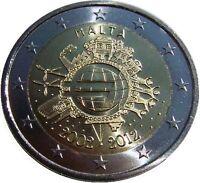2 euro commemorativa MALTA 2012 TYE 10 anni dell'euro FDC
