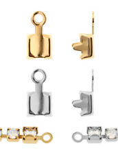 Genuine SWAROVSKI Crimp Spring Ring Cupchain End Metal Setting