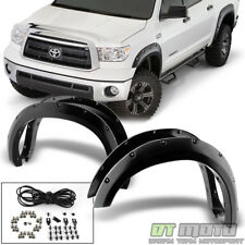 [4PC SET] 2007-2013 Toyota Tundra Bolt On Rivet Pocket Wheel Cover Fender Flares