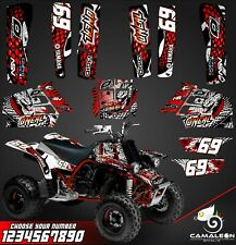Yamaha Banshee 350 full graphics kit stickers decals atv