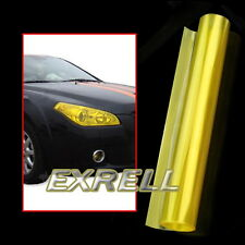 Pellicola Adesiva Giallo per Fanali Fari Luci Auto Veicoli Impermeabile 30x120cm