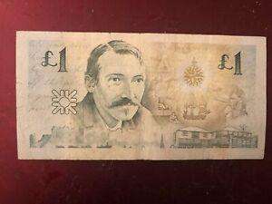 1994 The Royal Bank Of Scotland £1 One Pound Note Robert Louis Stevenson