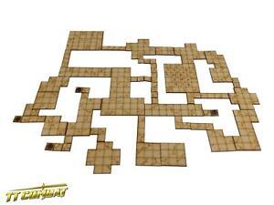 TTCombat - RPG Scenics - (RPG003) Modular Dungeon Tiles Set B
