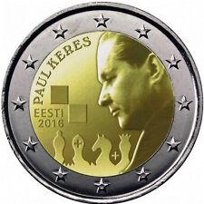 2 EURO Estonia 2016 - 2 euro 100° anniversario della nascita di Paul Kérès