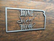Kansas State Outline Home Sweet Home Metal Wall Art Home Decor