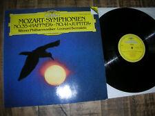 MOZART Symphonien No. 35 Haffner & 41 Jupiter / WIENER BERNSTEIN digital DGG LP