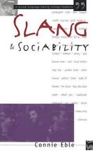 Slang and Sociability: In-Group Language Among College Students-ExLibrary