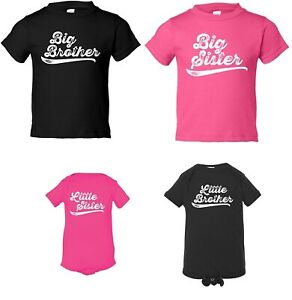 Big / Little Brother / Sister Sibling Baby Toddler Announcement Bodysuit T-Shirt