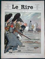 "Satirical Christmas Cartoons  - 1908 French Humor Magazine ""Le Rire"""