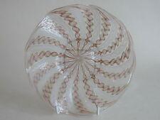Vintage Murano Zanfirico Lattice Aventurine wave glass plate with gold inclusion