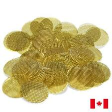"100 Piece Gold Brass 3/4"" 0.75"" Tobacco Smoking Pipe Screens"