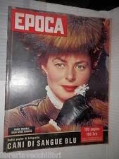 EPOCA Ingrid Bergman Guido Cantelli della Scala di Milano Charlie Chaplin libro