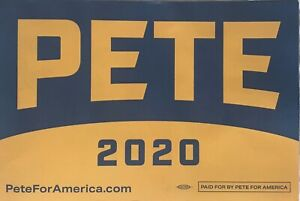 11x17 Mayor Pete Buttigieg 2020 Campaign Sign Placard Democrat President Liberal