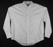 fresh produce shirt mens medium long sleeve button front light gray