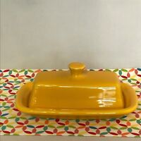Fiestaware Daffodil Butter Dish Fiesta Yellow XL Extra Large Butter Dish