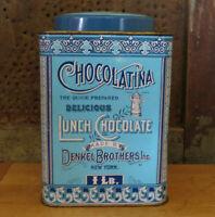 Vintage Denkel's Chocolatina for Breakfast Lunch Supper Metal Pantry Tin Case