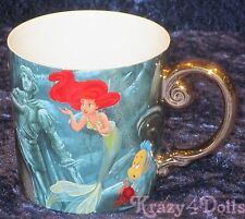 Disney Designer Fairytale Doll Collection Ariel and King Triton Coffee Mug NEW