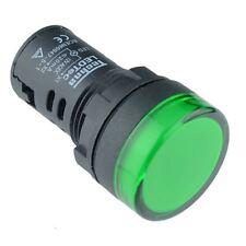 Green 22mm LED Pilot Panel Indicator Light 230V High Quality Techna