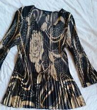 KRISS Bluse, Shirt, schwarz gold Gr. L/XL (ca. 44)