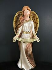 Christmas Nativity Large Angel Figure Glazed Bi 00006000 sque Hand Painted 12 Inches