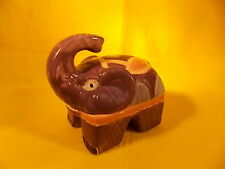 JEWELRY BOX-ELEPHANT PORCELAIN BOX-JS COLLECTION-SIGNED-HAND PAINTED-TRINKET BOX