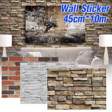 45cm x 10m Tapete Selbstklebend Steinoptik Wandpaneele Ziegelstein