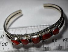 Jasper Cuff Bracelet Free Shipping Rare Navajo Richard Hoskie Sterling Silver