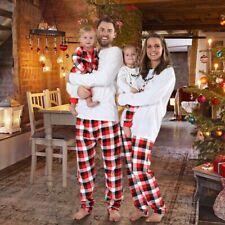 Us Family Matching Christmas Pajamas Sets Jammies fr Adults Kids Xmas Sleepwear