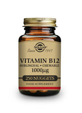 Solgar Vitamin B12 1000µg Sublingual Chewable Nuggets-Pack of 250