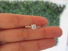 .08 CTW Diamond Engagement Ring 18k White Gold ER385 sep (PRE-ORDER)*