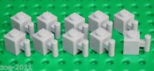 Lego 10x Light Bluish Grey Modified Brick 1x1 with Handle (2921) NEW!!!