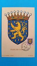 FRANCE CARTE MAXIMUM YVERT 903 ARMOIRIE FRANCHE COMTE 3F BESANCON 1951 L 408