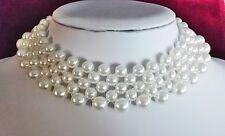 Super 5reihiges Perlen Halsband_Kropfkette_Halskette_Cocker_Perlenkette_dehnbar