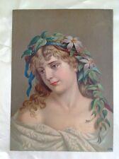 """Chromo vintage affiche publicitaire """"williot fils """" France 26 cm x 19 cm     12"""