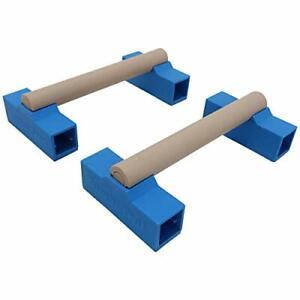 Tumbl Trak Portable Parallette Bars Blue