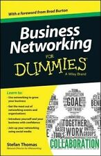 Business Networking For Dummies(R) by Stefan Thomas (Paperback, 2014)