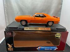 Road Signature 1969 Pontiac Firebird Trans Am Orange Color 1/18 Scale Diecast