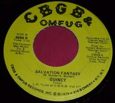 "QUINCY 7"" 45RPM CAN'T LIVE IN A DREAM/SALVATION FANTASY NEW WAVE CBGB & OMFUG.MB"