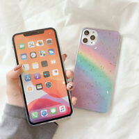 For Iphone11 Cellphone Shell Cover Phone Skin Case Silicone Protection Rainbow A