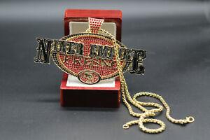 """San Francisco 49ers """"NINER EMPIRE FRESNO SF"""" Football Necklace Souvenir - 60 Cm"""